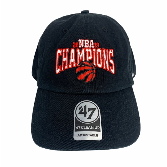 Toronto Raptors NBA Champions Hat Cap New Black